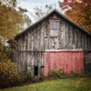 The Barn With The Red Door Art Print
