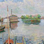 The Bateau Lavoir At Asnieres Art Print