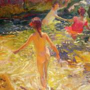 The Bath - Javea Art Print