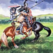 The Battle Of Bannockburn Art Print