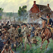 The Battle Of Brooklyn - Smallwood's Marylanders At The Old Stone House - Long Island  Art Print