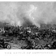 The Battle Of Gettysburg Art Print