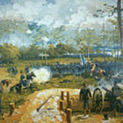 The Battle Of Kenesaw Mountain Art Print