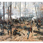 The Battle Of Shiloh Art Print