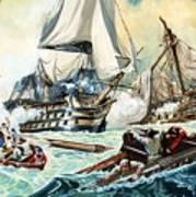 The Battle Of Trafalgar Art Print by English School