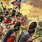 The Battle Of Waterloo Art Print