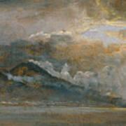 The Bay Of Naples With Vesuvius Art Print