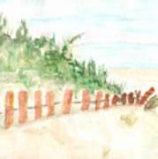 The Beach Art Print