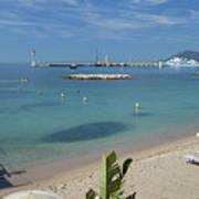 The Beach At Cannes Art Print