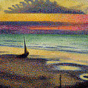 The Beach At Heist Art Print by Georges Lemmen