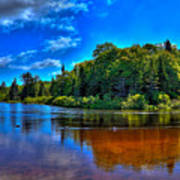 The Beach At Singing Waters Campground Art Print