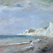 The Beach At Varangeville Print by Renoir
