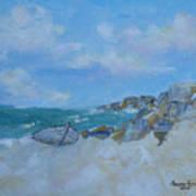 The Beached Boat Art Print