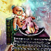 The Bear And The Sheep And The Typewriter From Whitby Art Print