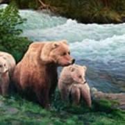 The Bears Of Katmai Art Print