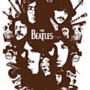 The Beatles No.15 Art Print by Caio Caldas