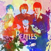 The Beatles Paint Splatter  Art Print