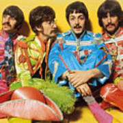 The Beatles Sgt. Pepper's Lonely Hearts Club Band Painting 1967 Color Art Print