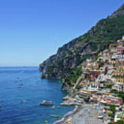 The Beautiful And Famous Amalfi Coast Art Print