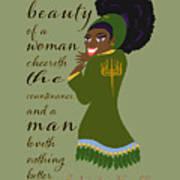 The Beauty Of A Woman Art Print