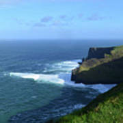 The Beauty Of Ireland's Cliff's Of Moher And Galway Bay  Art Print