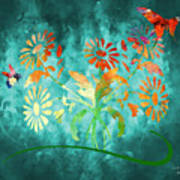 The Bee And Butterfly Art Print