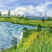 The Berkeley Island Pond Art Print