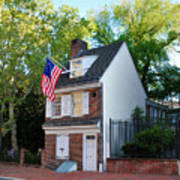 The Betsy Ross House Philadelphia Art Print by Bill Cannon