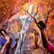 The Bible Crucifixion Art Print