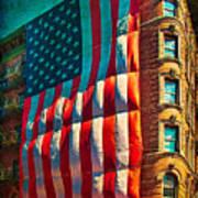 The Big Big Flag Art Print
