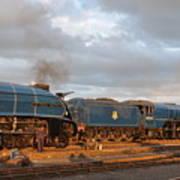 the Big Blue Engines  Art Print