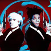 The Big Guns - Warhol And Basquiat Art Print