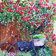 The Bike At Bistro Jeanty Napa Valley Art Print