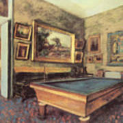 The Billiard Room At Menil-hubert Art Print