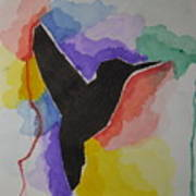 The Bird And Colors  Art Print