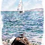 The Bird And The Sea Art Print