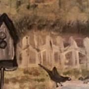 The Bird Bath Art Print
