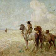 The Bison Hunters Art Print
