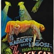 The Black Cat, Boris Karloff, Harry Art Print by Everett