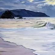 The Black Rock Widemouth Bay Art Print