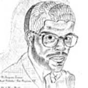 The Black Thinker Art Print