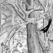 The Blackbird And The Worm Art Print