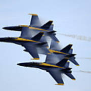 the Blue Angels perform a Diamond 360 Art Print