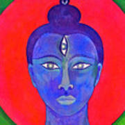 The Blue Buddha Art Print