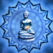 The Blue Buddha Meditation Art Print