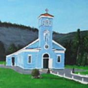 The Blue Church Art Print