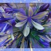 The Blue Flowers Of Melanie  Art Print