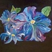The Blue Flowers Art Print