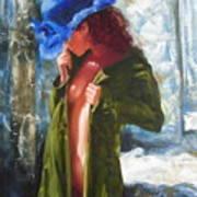 The Blue Hat Art Print