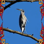 The Blue Heron Claimed He Was Framed Art Print